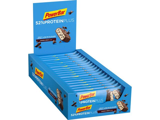 PowerBar ProteinPlus 52% Bar Sacoche 20x50g, Cookies & Cream